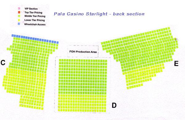 Pala casino full house seating chart wisconsin casino directory